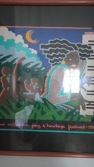 Vintage picture art ofJazz & Heritage Festival for Sale in Sebring, FL