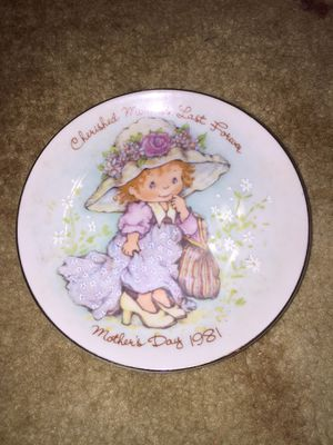 1981 Avon Mother's Day collectible cherished moments last forever plate for Sale in Coral Springs, FL