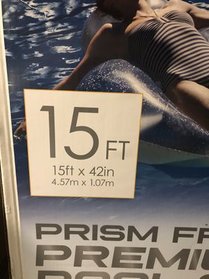 INTEX Prism 15ft x 42in Round Pool pump,filter and ladder included for Sale in Mansfield, TX