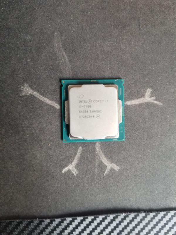 Intel i7-7700 @ 3.6GHz