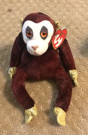 """TY Beanie Baby MONKEY (Chinese Zodiac Collection) plush toy 8"""" 008421043286 for Sale in Los Angeles, CA"""
