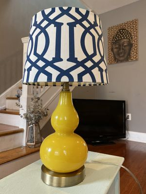 Blown glass lamp w shade. Lightbulb included! for Sale in Washington, DC