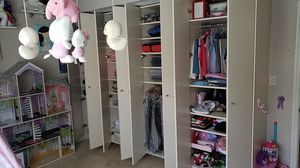 Selling to best offer this wknd. Custom Ivory Closet 80 inches height x 19o18 inches width $110 for Sale in Miami, FL
