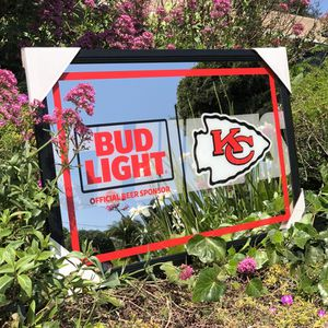 "Bud Light Kansas City Chiefs NFL Football Beer Bar Mirror ""New"" for Sale in Monterey Park, CA"