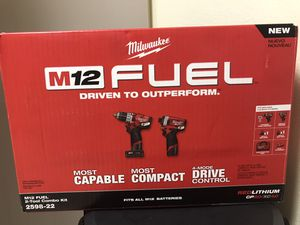 Milwaukee M12 FUEL 12-Volt Lithium-Ion Brushless Cordless Hammer Drill and Impact Driver Combo Kit (2-Tool) w(2) Batteries & Bag for Sale in Anaheim, CA