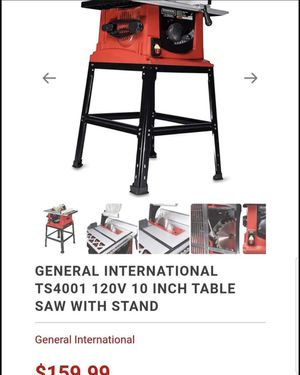 "General International Table Saw 10"" BRAND NEW IN BOX for Sale in Jacksonville, FL"