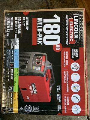 Lincoln Electric 180 Amp Weld-Pak 180 HD MIG Wire Feed Welder with Magnum 100L Gun, Gas Regulator, MIG and Flux-Cored Wire, 230V for Sale in San Jose, CA