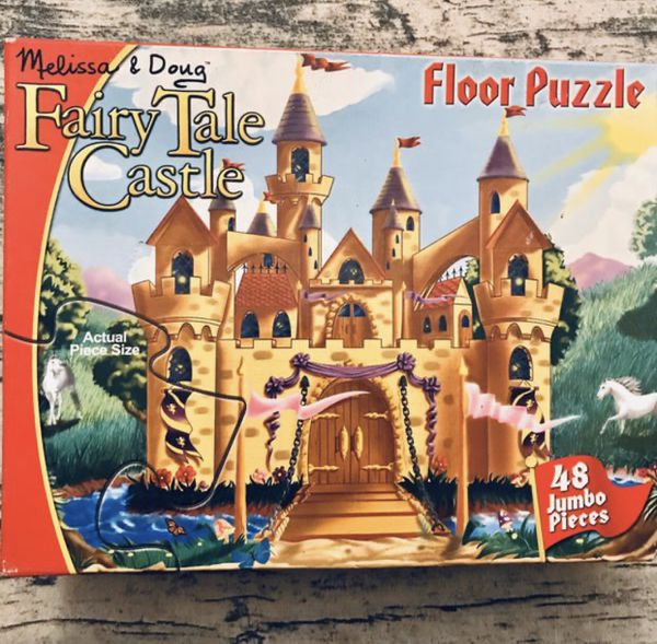 Bundle - 3 Games For Kids - Fairy Tale Castle - Dinosaur Floor Puzzle - Alphabet Train •If Is Posted Is Available•