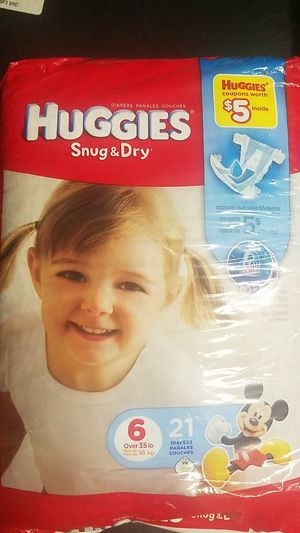 Huggies diapers size 6 new bag for Sale in Arlington, TX