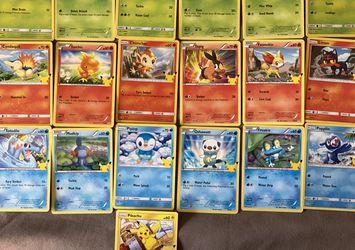 2021 McDonald's Pokémon 25th Anniversary Card Complete Non-Holo Set for Sale in Santa Fe Springs,  CA