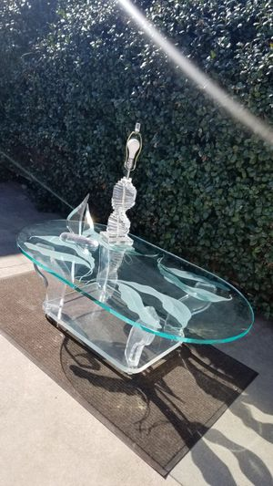 Thick lucite coffee table for Sale in Upland, CA