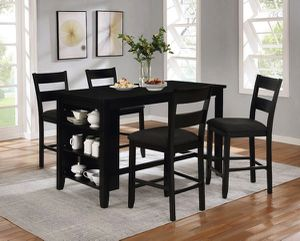 Brand new pub table black with kitchen shelves for Sale in Montclair, CA