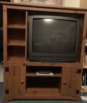 "Downsizing. Entertainment center and 25"" Sharp TV. Works perfect. for Sale in Lacey, WA"