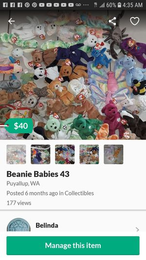 34 Beanie Babies for Sale in Puyallup, WA