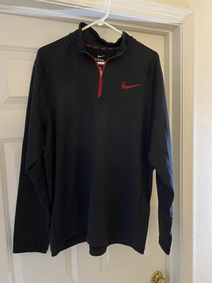 Nike Quarter ZIP Pullover Black size XL for Sale in Manassas, VA