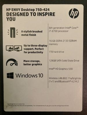 HP ENVY gaming system pc computer desktop ***REDUCED*** for Sale in Houston, TX