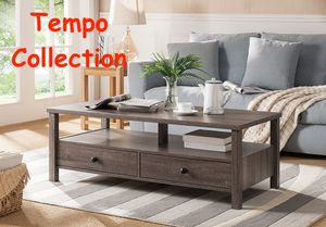 NEW, Dutto Coffee Table, Distressed Grey, SKU 151464CT, SKU# 161564CT for Sale in Garden Grove, CA