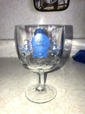 "Pabst Blue Ribbon Collectable Glass, 6 x 3+3/4"", heavy, 1960's? for Sale in Prospect Park, PA"