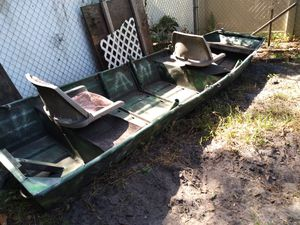 14 foot aluminum John boat and motor for Sale in Largo, FL