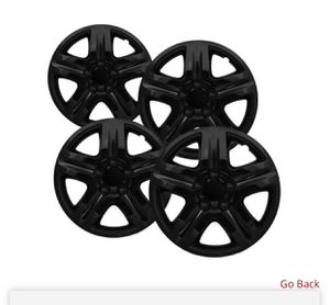 Go Back 16 inch Hubcaps Best for 2006-2013 Chevrolet Impala - (Set of 4) Wheel Covers 16in Hub Caps Black Rim Cover - Car Accessories for 16 inch Whe for Sale in Carson, CA