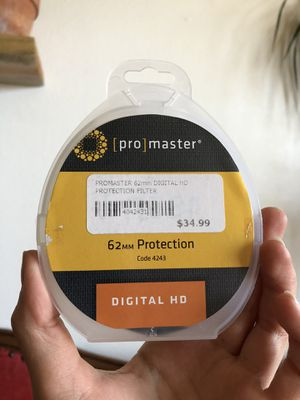Promaster 62mm Protection HD Camera Lens Filter for Sale in Boulder, CO