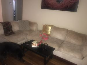 Beige Sectional/2 piece microfiber couch for Sale in TEMPLE TERR, FL