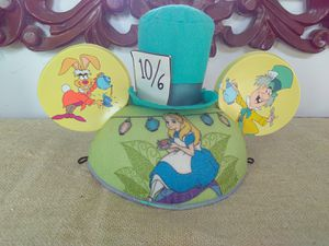 Disney Parks Alice in Wonderland Mickey Mouse Ears Hat Size Adult for Sale in Miami, FL