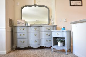 Antique Dresser Nightstand and Mirror for Sale in Thornton, CO