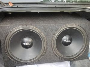 "2 pro audio 15 "" mmats subwoofer audio speakers with box for Sale in Auburndale, FL"