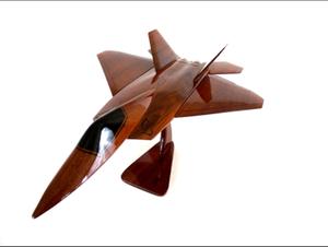 USAF F-22 Raptor Fighter Jet Mahogany Model for Sale for sale  Chesapeake, VA