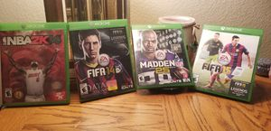 4 XBOX ONE GAMES BUNDLE for Sale in Las Vegas, NV
