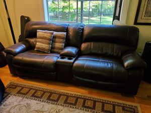 Leather sectional couch for Sale in Graham, WA