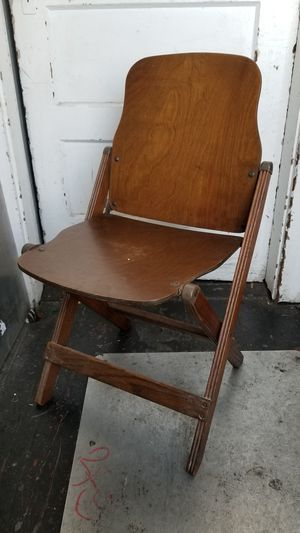 Antique folding wooden chair. for Sale in San Francisco, CA