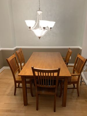 Dining table set with six chairs for Sale in Rockville, MD