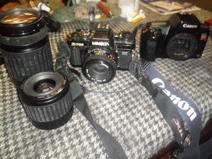 Canon EOS Rebel S + Minolta X-700 for Sale in Troy, IL