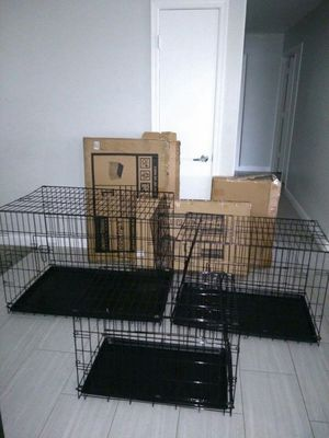 Brand New Heavy Duty dog pets Kennel Crate Cage House Foldable Dif.Size 83 Ave and McDowell PHOENIX for Sale in Phoenix, AZ