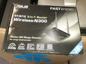 ASUS RT-N12 - 3INONE ROUTER/AP/RANGER EXTENDER for Sale in Kennedale, TX