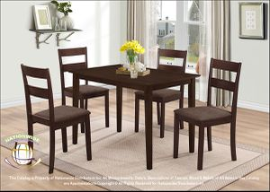 BRAND NEW Nationwide Furniture 5-Piece Dining Set. Brown for Sale in Columbus, OH