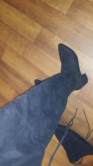 Black suede knee length boots for Sale in Las Vegas, NV