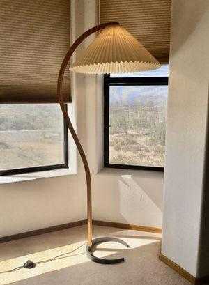 Vintage Mid Century Danish Modern Teak Bentwood Mads Caprani Arc Floor Lamp for Sale in Cave Creek, AZ