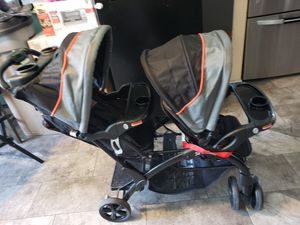 Baby trend sit & stand double stroller selling like new for Sale in Los Angeles, CA