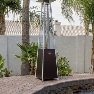 Hiland Pyramid Patio Heater Hammered Bronze w/ wheels for Sale in Baldwin Park, CA