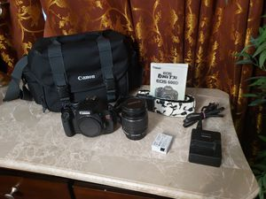 Canon T3i w/18-55 IS Lens, Genuine Leather bag + for Sale in Southfield, MI