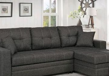 New!! 🎯 Dark Gray Sectional Sleeper And Storage Available for Sale in Las Vegas,  NV