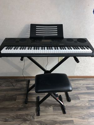 Piano and Stand + Chair + Sustain Pedal (Casio WK-6600) for Sale in Savannah, GA