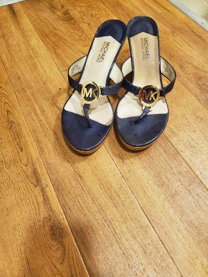 Michael Kors sandal navy blue gold embellium for Sale in Piedmont, CA