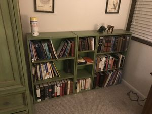 Armoire and bookshelves 7 pieces 150 all together or sell separately for Sale in Vancouver, WA