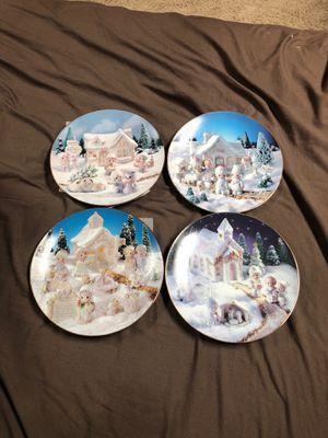 Precious Moments sugartown collection 4 plates for Sale in Elizabeth, PA