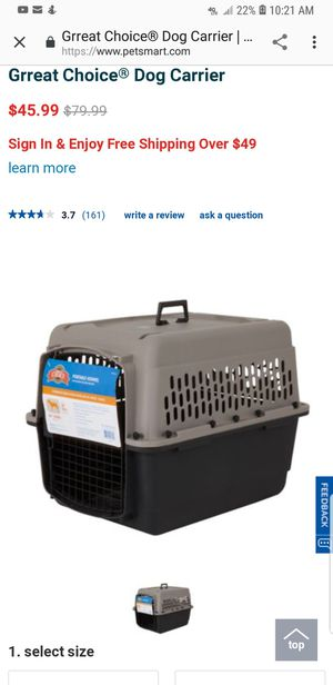 Great choice dog crate for Sale in Stockton, CA