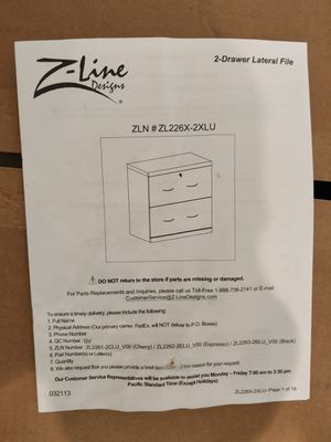 Black File Cabinet *BRAND NEW* for Sale in Chevy Chase, MD